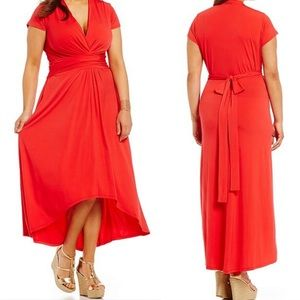MICHAEL Kors Jersey Red Hi Lo Maxi Dress